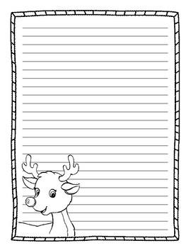 reindeer writing paper