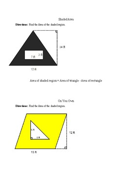 relating area of a parallelogram to area of a triangle