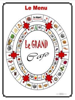 French Food – La Nourriture Gameboard Le Grand Café