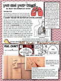 respiratory body system bundle foldable interactive notebook NGSS 6 7 8 Jr High