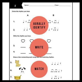 rest Worksheet   Music Assessment & Songs