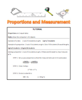 Ratios and Proportions: Reteach worksheet