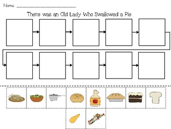 retell-There was an Old Lady Who Swallowed a Pie