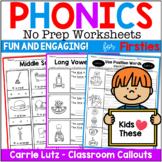 Phonics Worksheets ~ Printable No Prep Activities