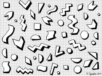 retro doodles coloring sheet