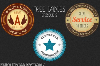 reward achievement badges, retro - 14 badges