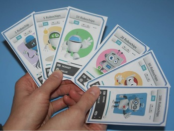 reward coupons, classroom currency - robochips