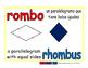 rhombus/rombo geom 1-way blue/rojo