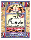 rhyme time RTI card sets bundle: 10 decks of rhyming cards plus bonus