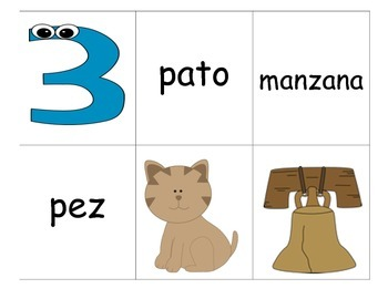 rhyming activity for Kindergarten and First grade bilingual students
