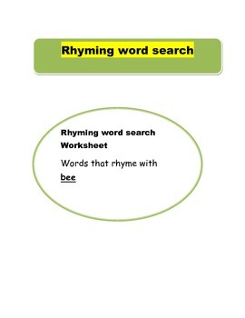 rhyming word search