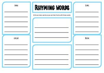 rhyming words - poem - poetry