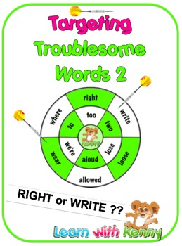 right/write - Targeting Troublesome Words Worksheets