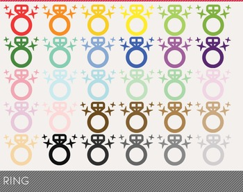 ring Digital Clipart, ring Graphics, ring PNG, Rainbow ring Digital Files