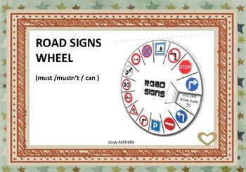 road signs wheel - must - mustn't - can