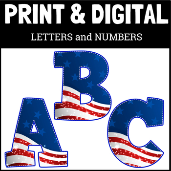BULLETIN BOARD LETTERS STITCHED FLAG
