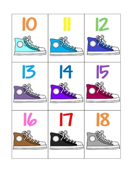 rockin' in our school shoes_color chart and numeral cards