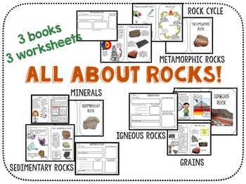 rocks!  Igneous, metamorphic, sedimentary, minerals, grains, and the rock cycle!