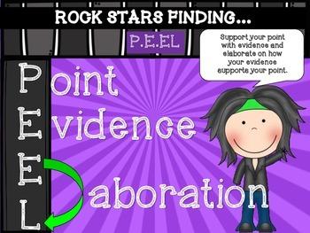 rockstar theme writing P.E.EL posters