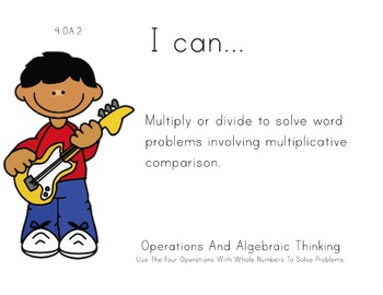 rockstars Theme 4th Fourth Common Core Posters Math Mathem