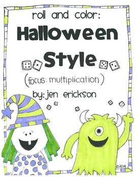 Roll and Color: HALLOWEEN STYLE MULTIPLICATION