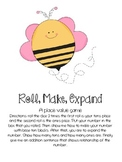 roll, make, expand place value game