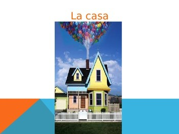 rooms of the house and furniture review in Spanish using UP