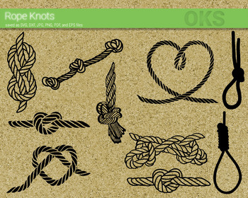 rope knot SVG cut files, DXF, vector EPS cutting file instant download