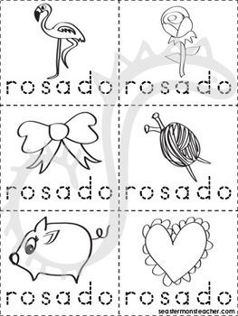 rosa/rosado color book (Spanish)