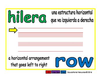 row/hilera prim 1-way blue/verde