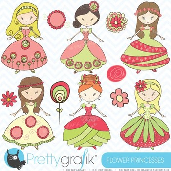royal princesses clipart commercial use, vector graphics - CL367