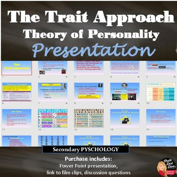 Personality – The Trait Theory Lecture Presentation (Psychology)