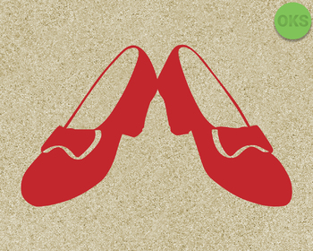 ruby red slippers SVG cut files, DXF, vector EPS cutting file instant download