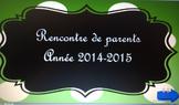 réunion de parents/ back to school parent-teacher meeting
