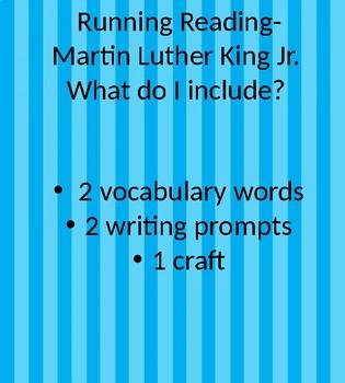 running reading- martin luther king jr.