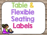 rustic flexible seating rules and clip chart