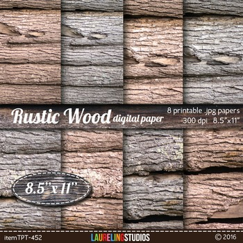 rustic wood digital paper with wood/pine bark texture// Ch