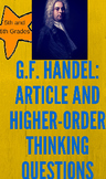 G. F. Handel: Article and Higher Order Questions for 5th/6