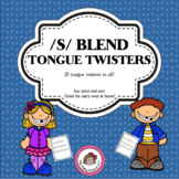 /S/ Blend Tongue Twisters - An Articulation Carryover Activity