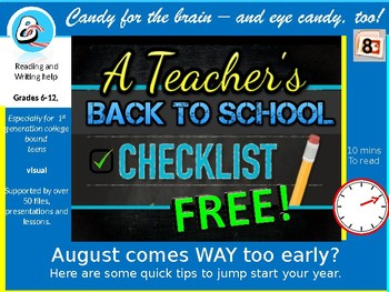 Teachers' Back to School - organization for the first days