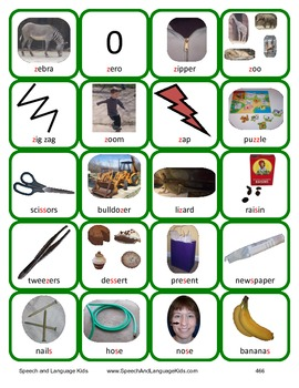 /s/ and /z/ Articulation Cards and Worksheets