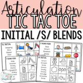 Word initial s blends- Articulation Tic Tac Toe Game for Speech Therapy