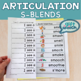 S-blends Articulation activity for cluster reduction speech therapy