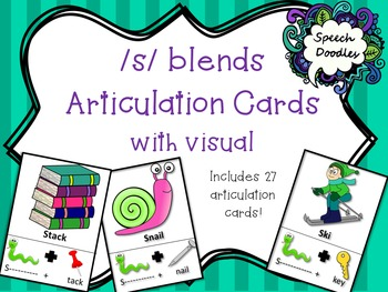 s blends articulation cards with visual