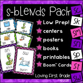 s-Blends Pack (sc, sk, sm, sn, sp, st, & sw) Centers & Printables