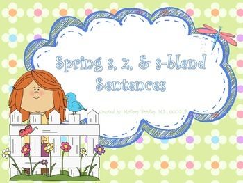 s, z, & s-blend Spring Artic/Language Sentences & Activities for Speech Therapy