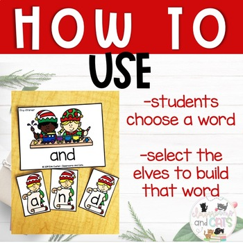 EDITABLE sELFie Sight Word Spelling Review Game Christmas