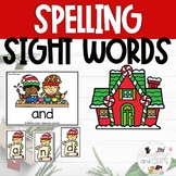 EDITABLE sELFie Sight Word Spelling Review Game Christmas
