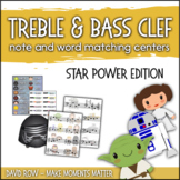 Treble Clef & Bass Clef Note Matching Centers - Star Power
