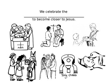 sacraments coloring sheet